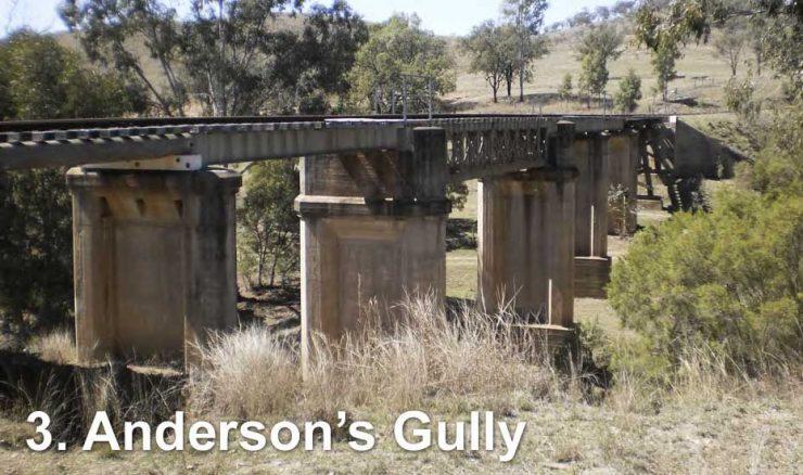 Railway bridge across Anderson's Gully