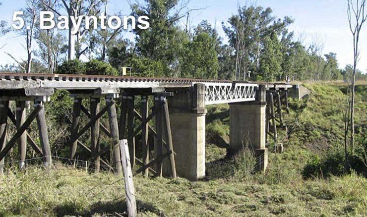 Railway bridge at Bayntons
