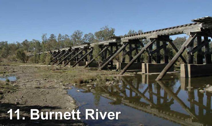 Railway bridge across the Burnett River
