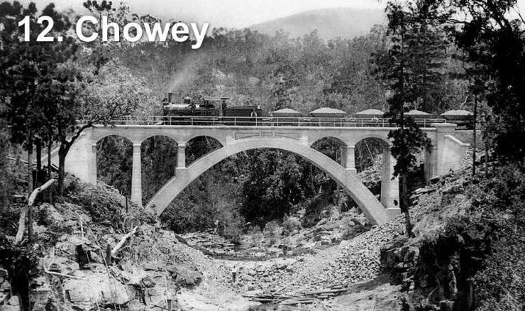 Railway bridge at Chowey
