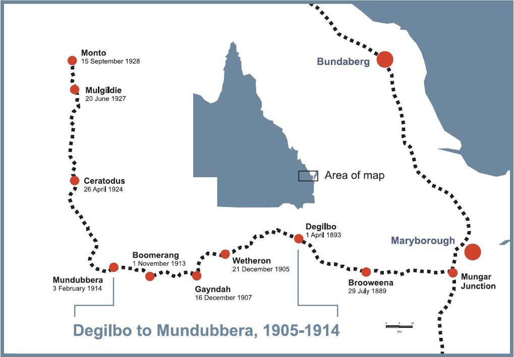 Map Degilbo to Mundubbera,1905-1914