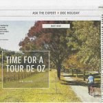 scanned newspaper article about rail trails