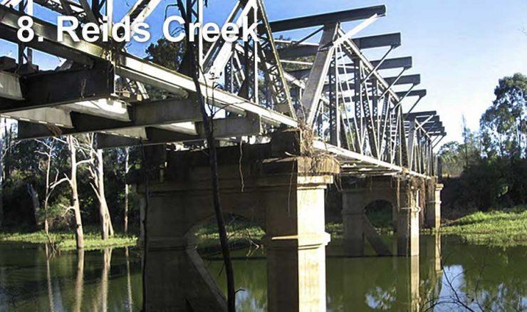 Railway bridge across Reids Creek