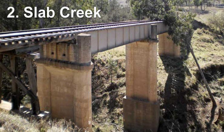 Railway bridge across Slab Creek