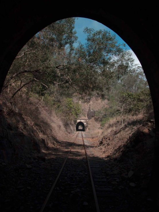 A view From the dark of the tunnel