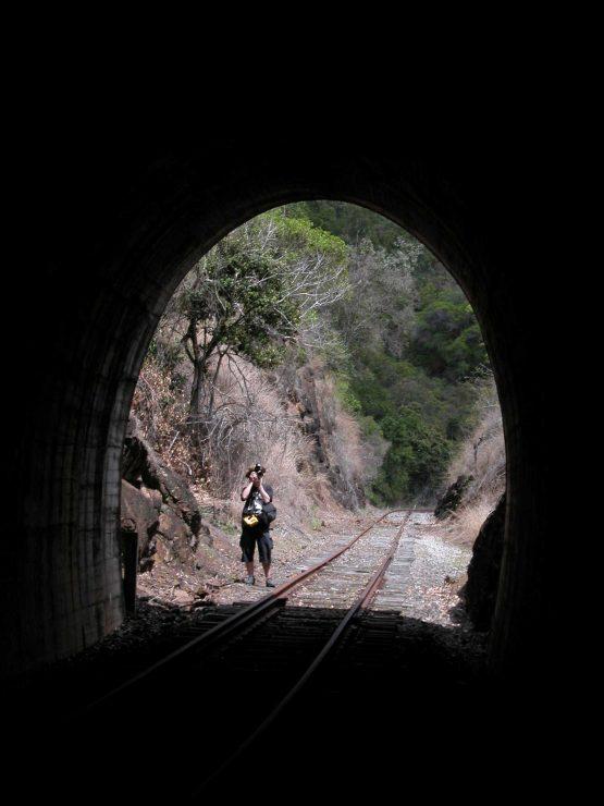 You will take plenty of photos while walking the tunnels on the Boyne Burnett Rail Trail