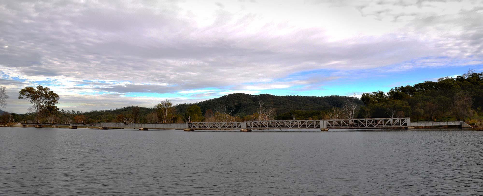 Futter Creek Bridge across Lake Awoonga