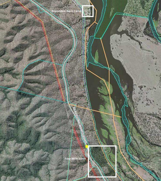 Boynedale Rail Trail Map