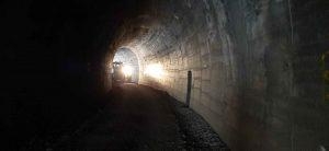 grader in tunnel