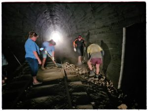 working in tunnel six